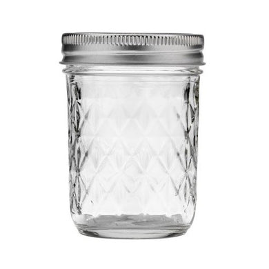 Zero Waste Store Australia 240ml 8oz Quilted Mason Preserving Jar