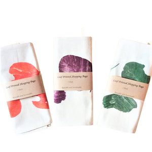 Zero Waste Store Australia Amy Jade Creations Leaf Print Cotton Shopping bags