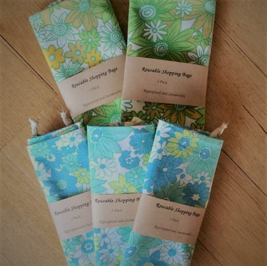Amy Jade Creations Produce Bag 3 Pack - Repurposed Fabric