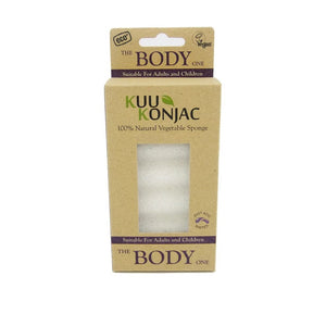 Kuu Konjac Natural Body Sponge - Choose Variety