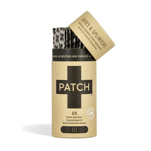 PATCH Bamboo Bandage Strips Activated Charcoal - Tube of 25
