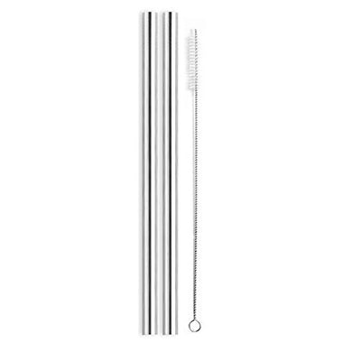 Stainless Steel Bubble Tea Drinking Straws - 12mm Straight PK2