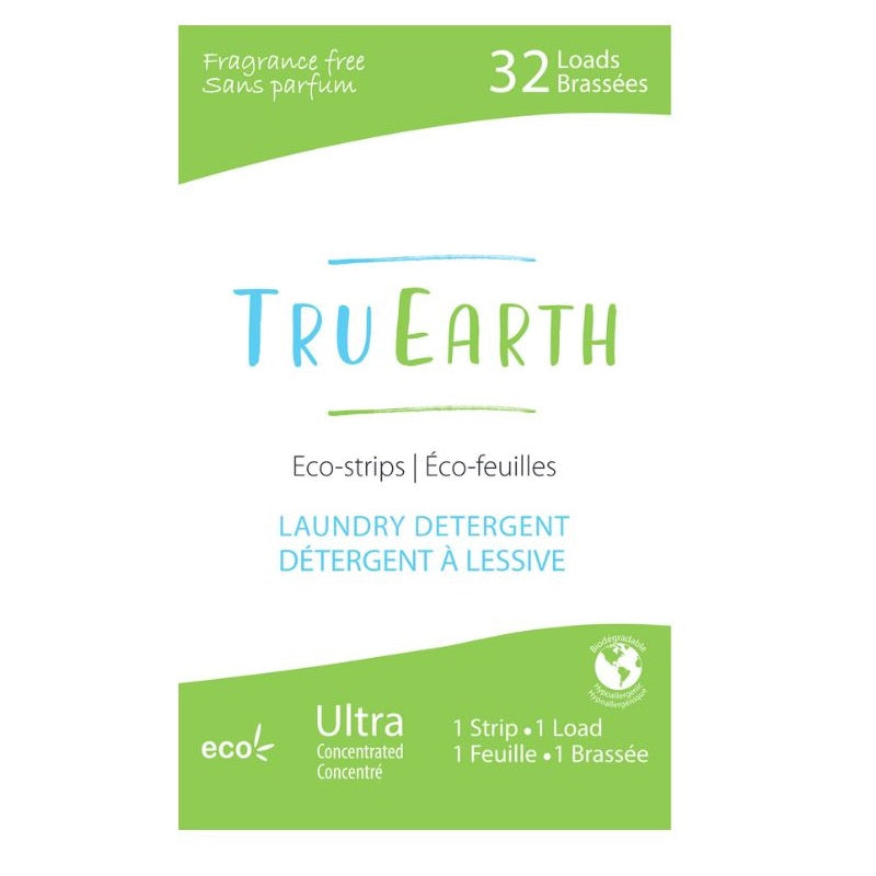 Tru Earth Laundry Strips - Choose Fresh Linen, Fragrance Free or Baby