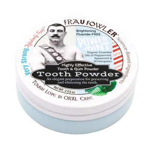 Zero Waste Store Frau Fowler Power Mint Tooth Powder
