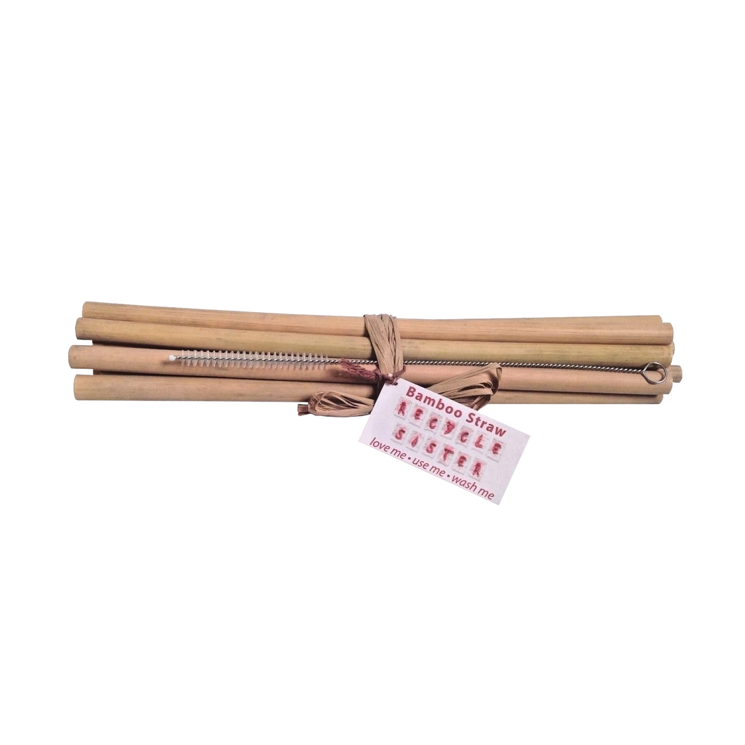 Zero Waste Store Recycle Sister Bamboo Drinking Straws