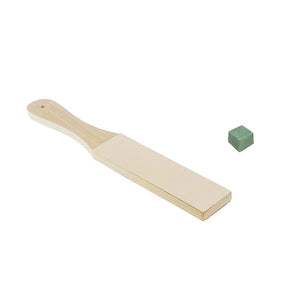 Razor Sharpening Strop + Stropping Compound Block