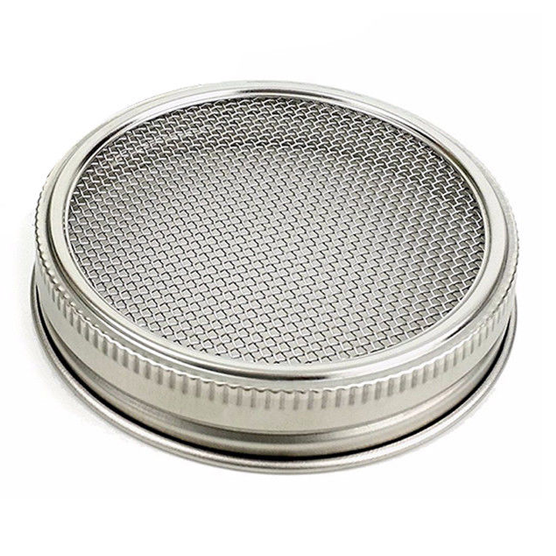stainless steel re-usable mason ball jar lid sprouting