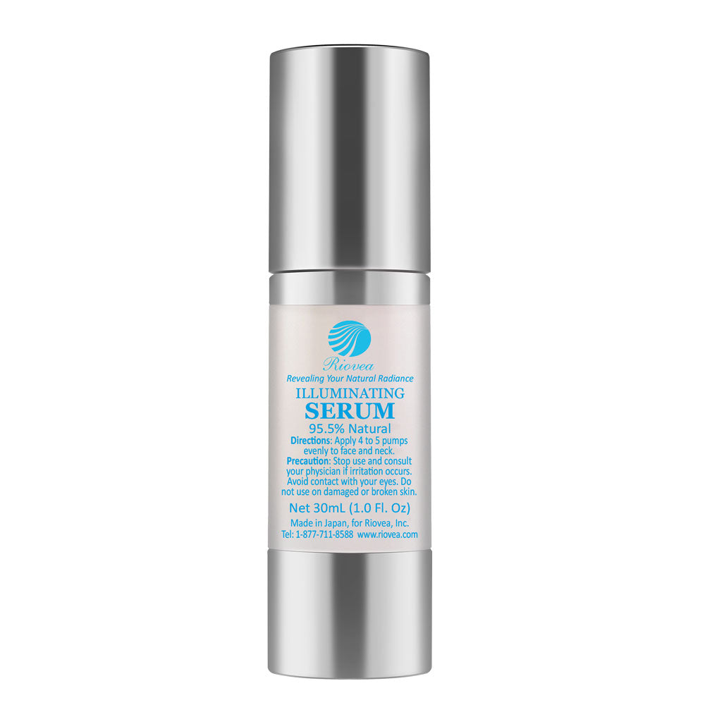 "Riovea's Illuminating Serum is powerful brightening serum based on all-natural ""TrioActive"" formula, Riovea's Illuminating Serum helps balance the moisture and oil content of your skin and maintain skin tone and texture."