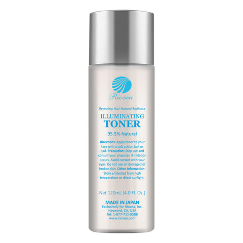 "Riovea's Illuminating Toner is a rich brightening and moisturizing toner based on all-natural ""TrioActive"" formula, Riovea's Illuminating Toner hydrates and protects your skin. This alcohol-free toner soaks into the skin and maintains its natural elasticity."
