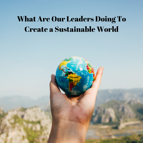 What are our Leaders doing to create a sustainable world?