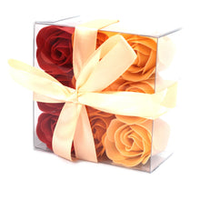 Load image into Gallery viewer, Set of 9 Soap Flower Box - Peach Roses-Bath & Body-SmartMugCo