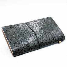 Load image into Gallery viewer, Handmade Leather Journal - Good Ideas and Other Dreams - Grey (80 pages)-Stationary-SmartMugCo
