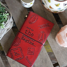 Load image into Gallery viewer, Handmade Leather Journal - Little Book of Big Plans - Red (80 pages)-Stationary-SmartMugCo