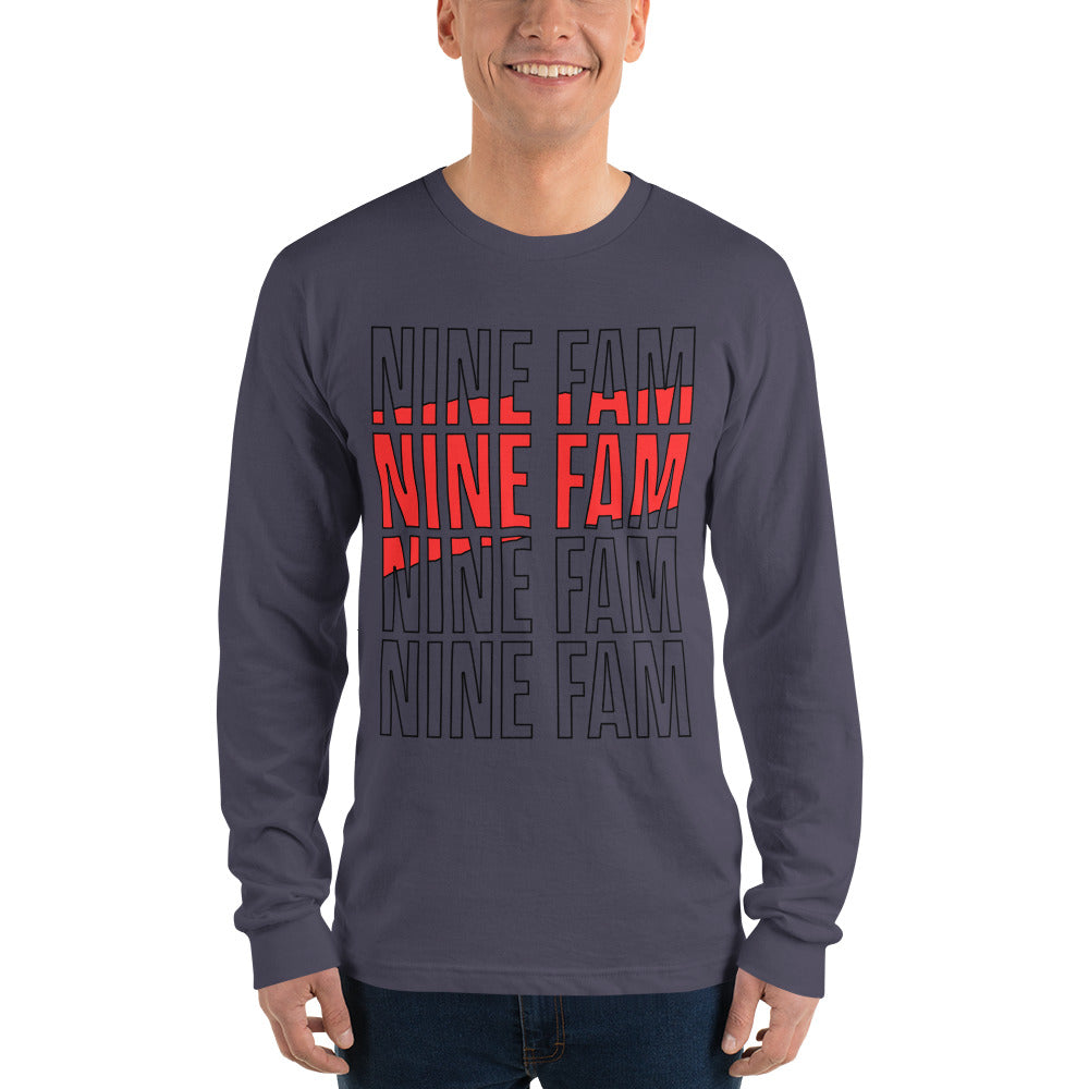 NINE FAM | Long sleeve t-shirt (unisex)