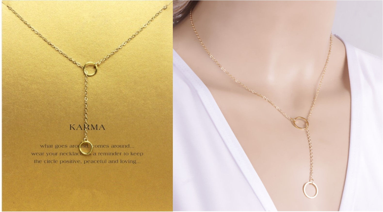 5758a6314f5479 Gold or Silver Necklace & Pendant Attached to Gift Card Envelope - MailDove