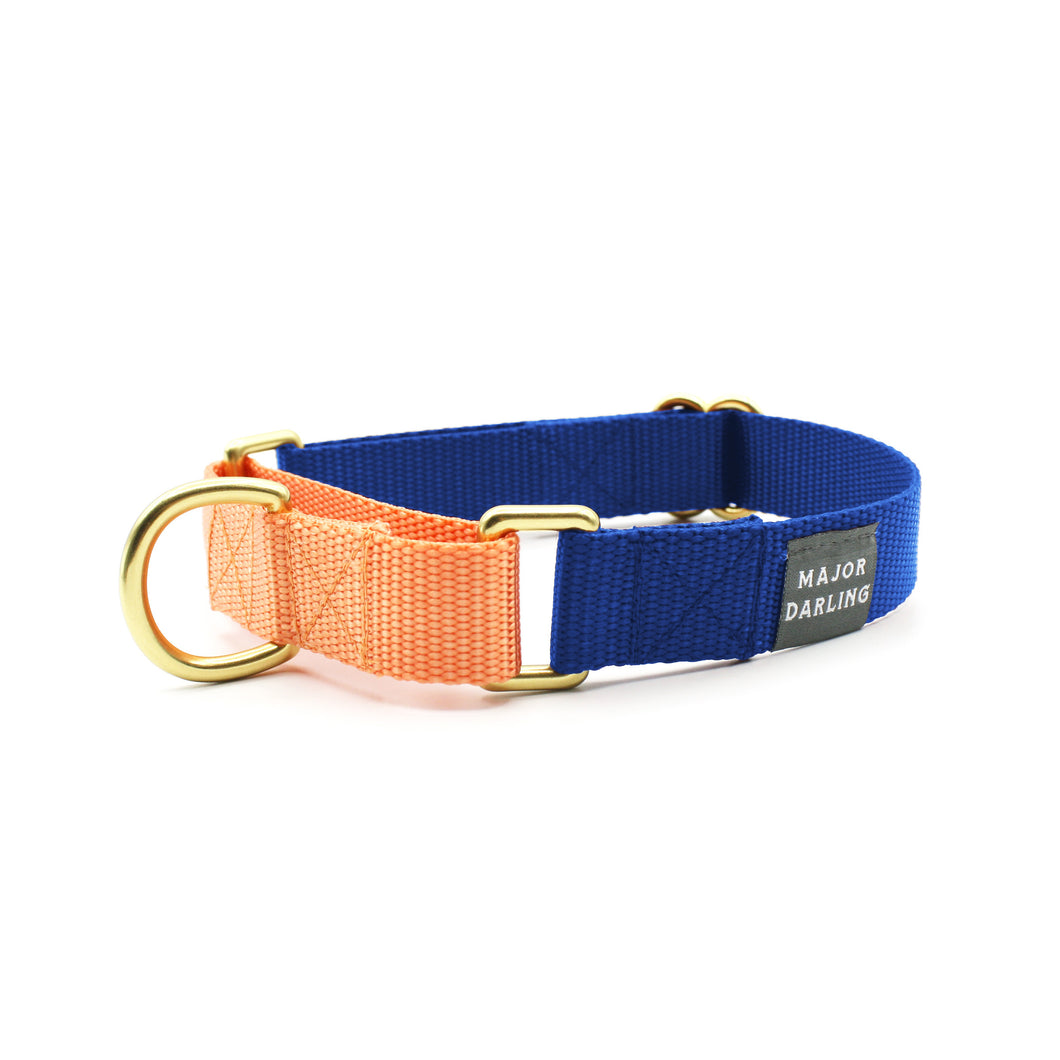 martingale collar / cobalt + peach