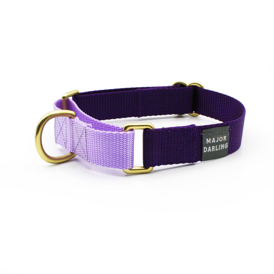 martingale collar / violet + lilac