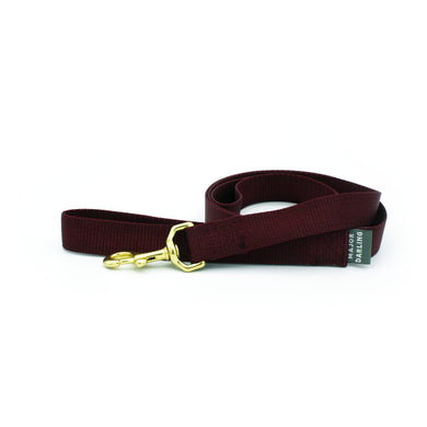 basic leash / merlot