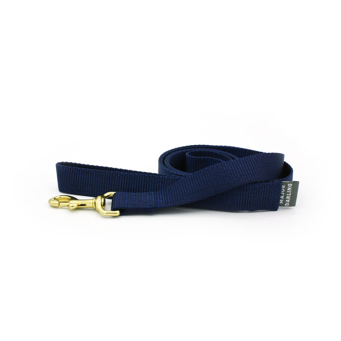 basic leash / navy