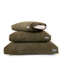 Load image into Gallery viewer, duvet bed / stonewashed canvas / olive