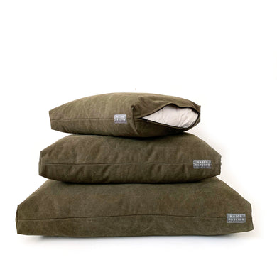 duvet bed / stonewashed canvas / olive