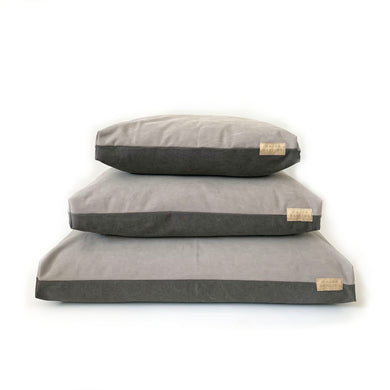 duvet bed / stonewashed canvas / stone