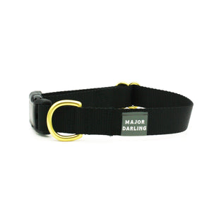 side-release buckle collar / black