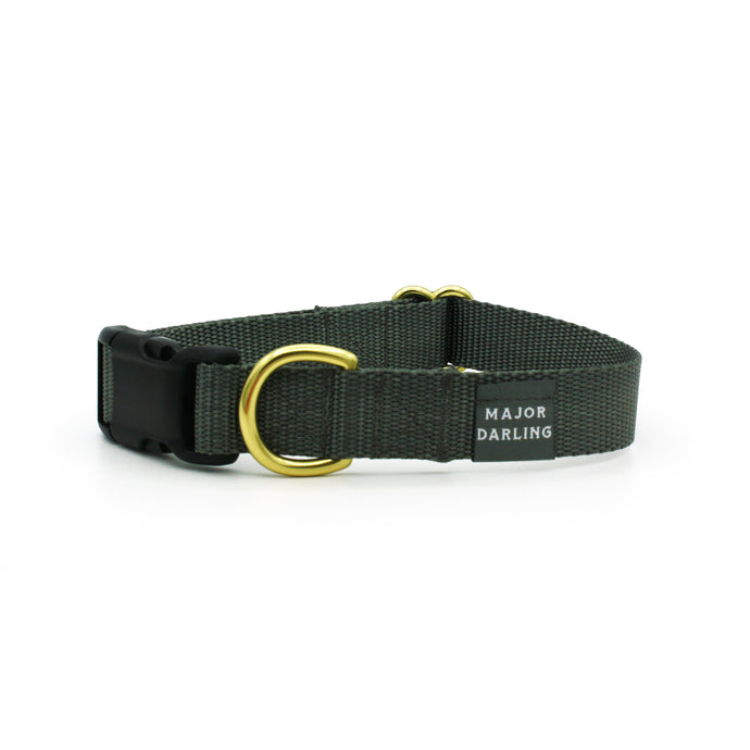 side-release buckle collar / charcoal