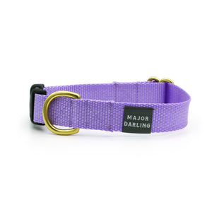 side-release buckle collar / lilac