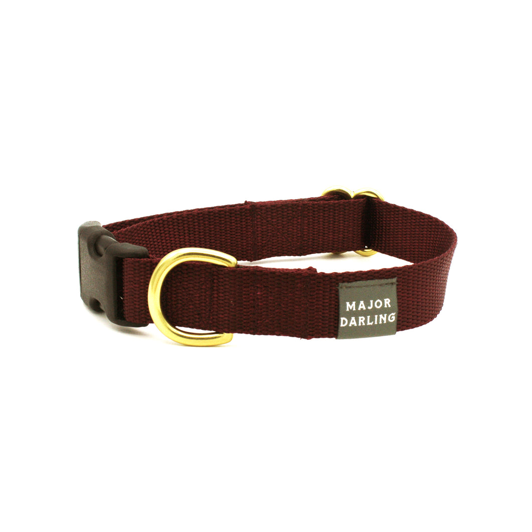 side-release buckle collar / merlot