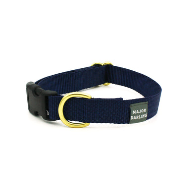 side-release buckle collar / navy