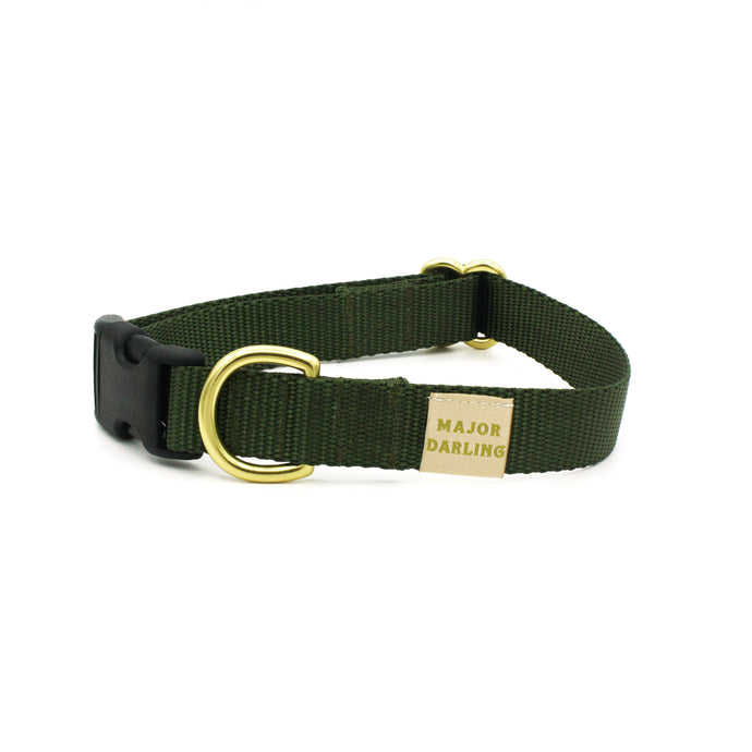 side-release buckle collar / olive