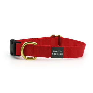 side-release buckle collar / red