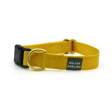 side-release buckle collar / yellow