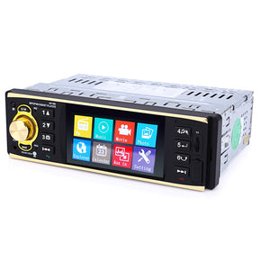 4019B 4.1 inch Vehicle-mounted MP5 Player Stereo Audio Car Video USB AUX FM Radio Station with Camera Remote Control