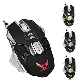 ZERODATE X300 Professional 3200DPI Optical Programmable Wired Gaming Mouse