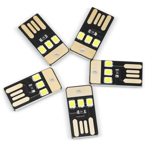 5PCS 0.2W 3 x SMD 2835 22Lm USB LED Light Portable Camping Lamp