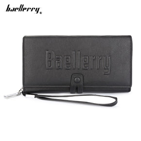 Baellerry Letter PU Leather Men Clutch Wallet Card Holder