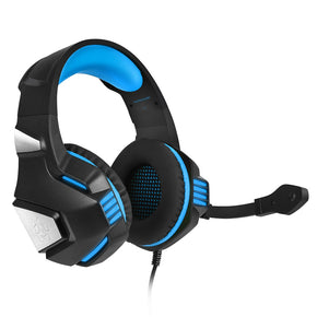 Hunterspider V - 3 3.5mm Headsets Bass Gaming Headphones with Mic LED Light for Mobile Phone PC Xbox