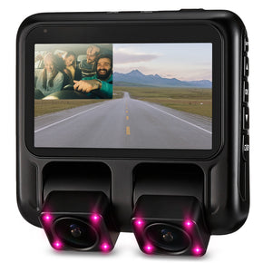 X100 1080P 3 inch Car Driving Recorder Dual Cameras GPS Loop Record WDR