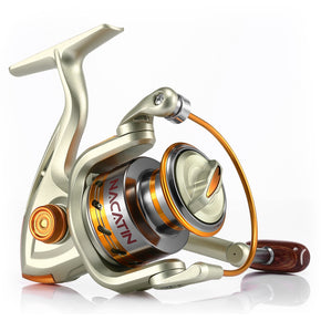 NACATIN Spinning Reel Fishing Gear Fixed Spool Novice Beginner Angler Saltwater Freshwater Ball Bearing