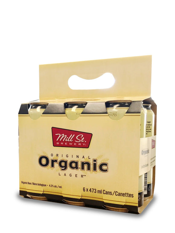 mill street organic lager 6x473 ml can
