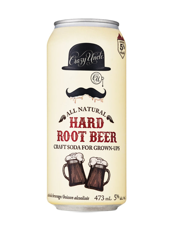 Crazy Uncle Hard Root Beer for Grown Ups 473 mL can