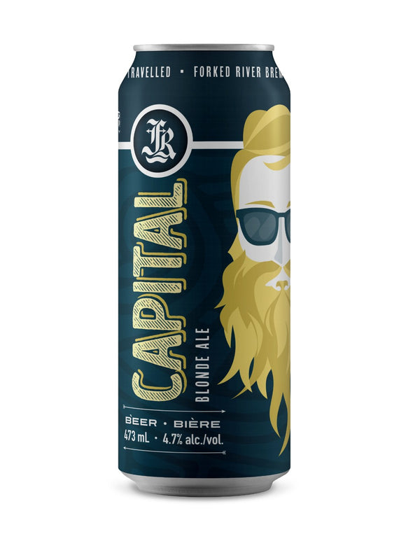 Forked River Capital Blonde Ale 473 mL can