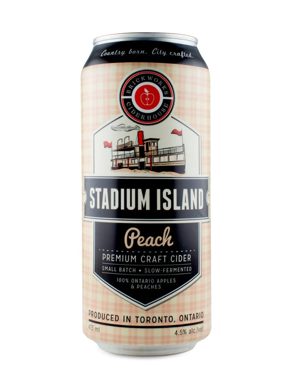 Brickworks Ciderhouse Stadium Island Peach Cider 473 mL can