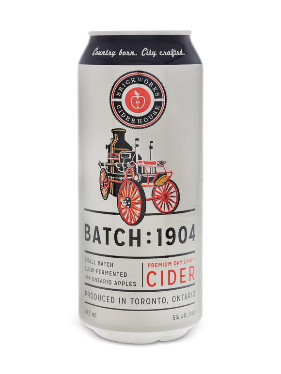 Brickworks Ciderhouse Batch : 1904 473 mL can