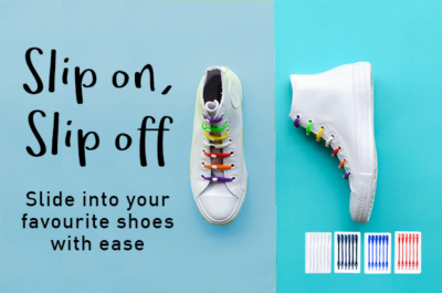 Slip on, slip off: Fun ways to wear shoelaces