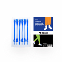 Slip On Slip Off - Silicone Shoelaces Blue Laces