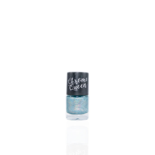 Chrome Queen - Holographic Nail Polish - Crystal Blue