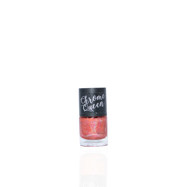 Chrome Queen - Holographic Nail Polish - Ruby Red